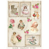 Jeanines Art - Vintage Flowers - Pale Vintage - CD11049