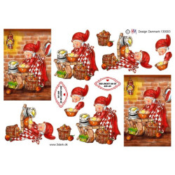 Dixi Paper Pack - Red Christmas - 15x15cm - No.25