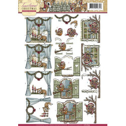 Docrafts - Papermania - Gorjuss - Collectable Rubber Stamp - Santoro - No. 6 I Found My Family In A Book V2
