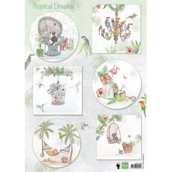Precious Marieke - Early Spring - Spring Flowers Square label - PM10113