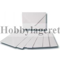 Kuverter 8x11 cm - Hvid
