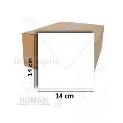 Kuverter 14x14 cm - Hvid