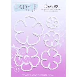 3D Pushout - Jeanines Art - Vintage Flowers - Romantic Purple - SB10236