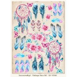 Jeanines Art - Vintage Flowers - Floral Border - JAD10033