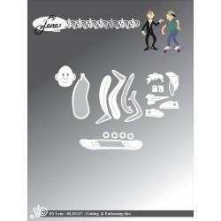 Fantasy Karton - 30.5x30.5cm - Sort