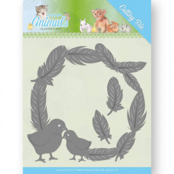 Jeanine's Art - Young Animals - Feathers All Around - JAD10067
