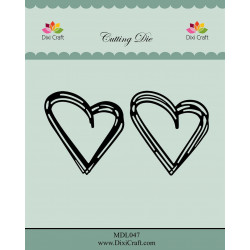 Dixi Craft - Sketch Hearts...
