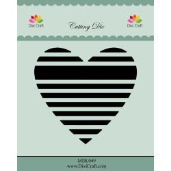 Dixi Craft - Striped Hearts...