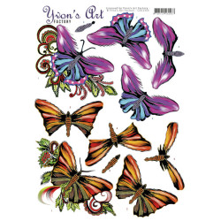 Yvon's Art - Butterflies -...