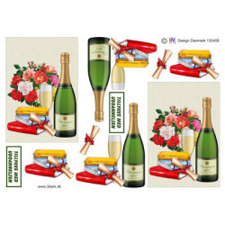 Precious Marieke - Flowers In Pastels - Kartonpakke A5