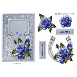 Pushout - Precious Marieke - Flowers In Pastels - Blue Dreams - SB10284