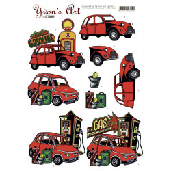Yvon's Art - Red Cars -...