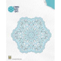 Nellie Snellen - Stained Glass Dies - Fantasy Flower 1 - SGD001
