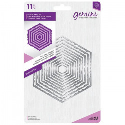 Gemini - Torn Edge Hexagon...