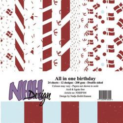 Papirdesign - Hjem Til Jul - Blåtime - 30.5x30.5