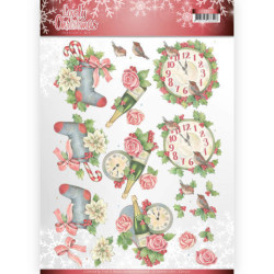 Precious Marieke - Winter Flowers - Ice Flower Circle - PM10141