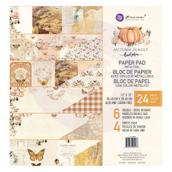 Prima Marketing - Papirblok 30x30 - Autumn Sunset - 995478