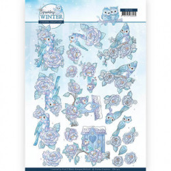 3D Push Out Book - Winter Flowers