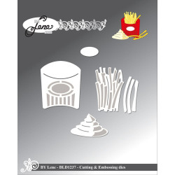Leane Creatief - Sticker & Foam Flowers Set 2 - Grey