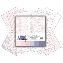 Laserowe LOVE - Rubber Stamp - Stripes - Love Llama