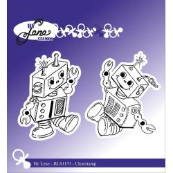 By Lene - Stempel - Robots...