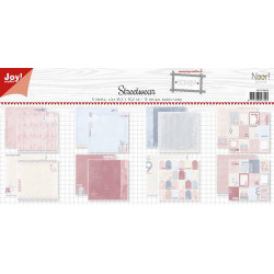 Dixi Craft - Papirblok - Rose Background - PPL021