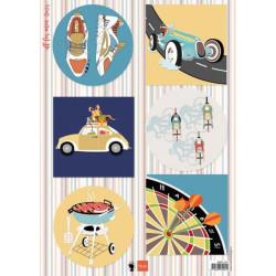 Joy - Papirblok A4 - Roses & Polkadots - 6011/0601