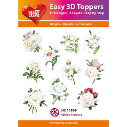 Easy 3D Toppers - White...