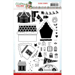 Yvonne Creations - Clear Stamp - Christmas Village - YCCS10059