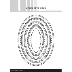 Simple And Basic - Inner Scallop Oval - SBD087