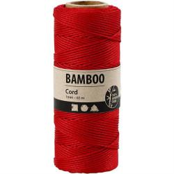 Bamboo Cord - Rød