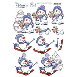 Yvon's Art - Snowmen - CD11550