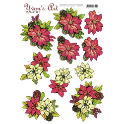 Yvon's Art - Poinsettia -...