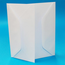 Kuverter 11x22 cm - Hvid