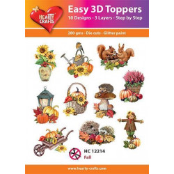 Easy 3D Toppers - Fall
