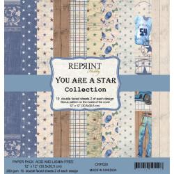 Reprint - Papirpakke 30x30 - You Are A Star - CRP028