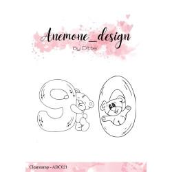 Anemone_ Design - Stempel - Teddy Bear 9 & 0