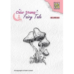 Nellie Snellen - Clear Stamps - Fairy Tale - Mushroom - FTCS023