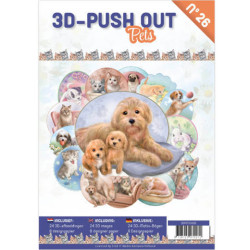 3D Push Out Book - Pets