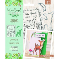 Crafter's Companion - Stamp & Die - Woodland Friends - Woodland Deer - NG-WFR-STD-WDEE