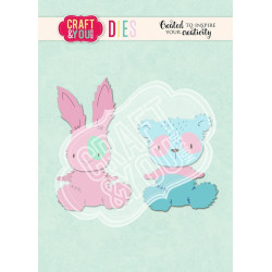 Craft & You - Teddy Bear & Rabbit - CW112