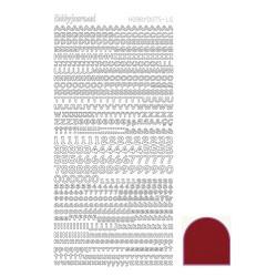 Hobbydots Alfabet - Mirror Red