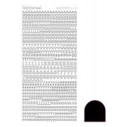 Hobbydots Alfabet - Sort