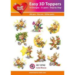 Easy 3D Toppers - Cute Moose