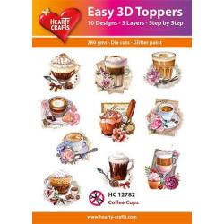 Easy 3D Toppers - Coffee Cups