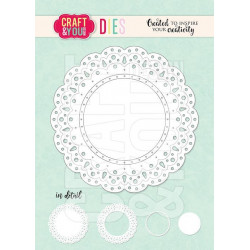 Craft & You - Sweet Doily -...