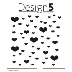 Design5 - Stencil - Hearts