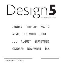 Design5 - Stempel - Måneder...