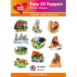 Easy 3D Toppers - Horses