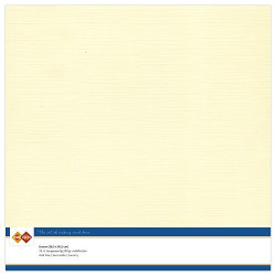 Card Deco Essentials - Linnen Karton 30x30 cm - Cream